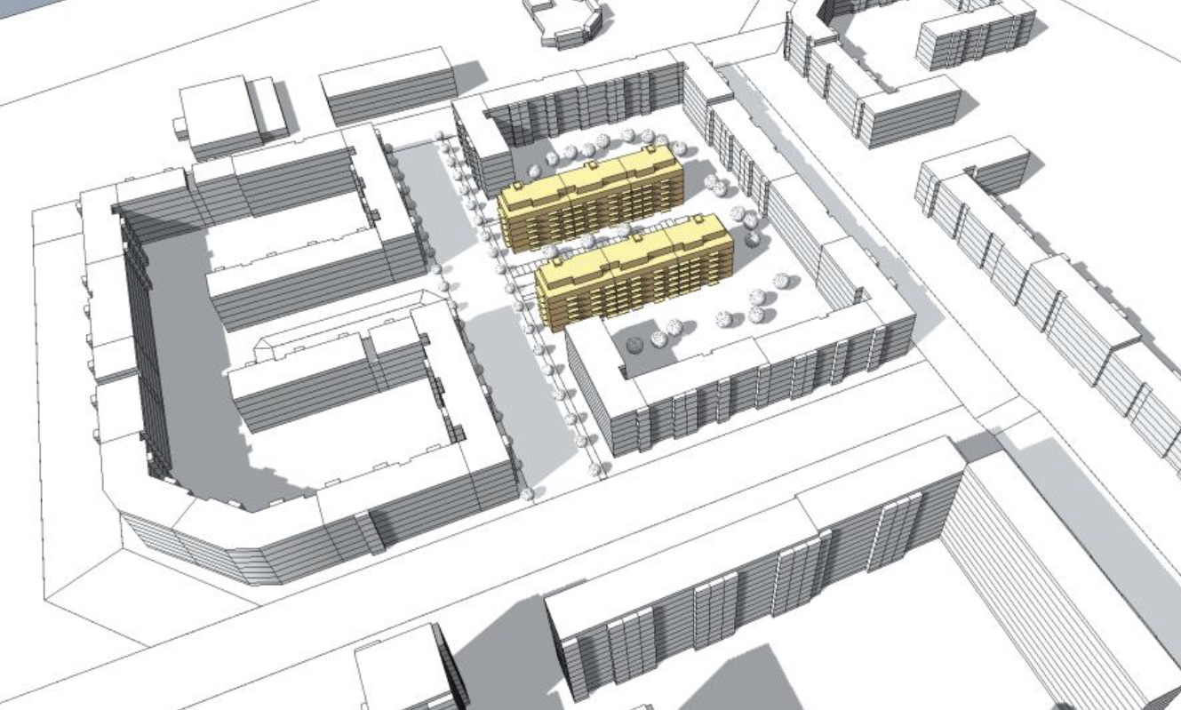 Visualisierung Bauvorhaben Bodo-Uhse-Straße 8 und 10