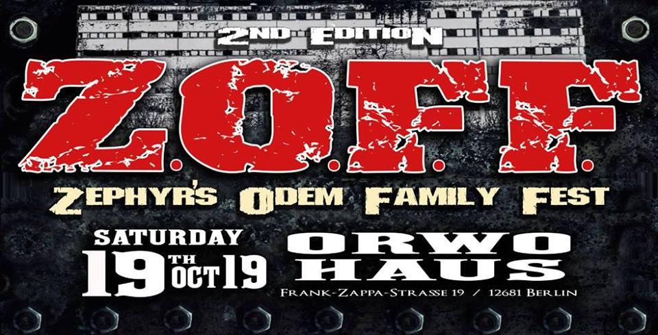 Tipp 10: Sa, 19.10., ab 18 Uhr:  Z.O.F.F – zweite Auflage des Zephyr's Odem Family Festes. Ein Abend voller Trash, Progressive, Death und Black Metal im ORWOhaus
