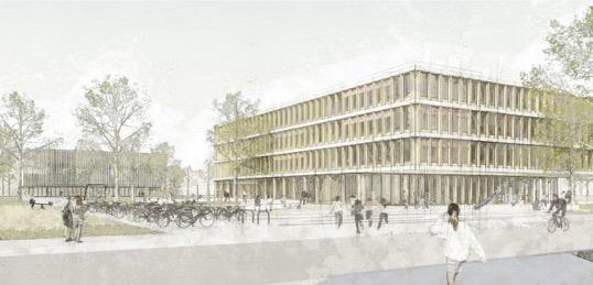 Dieser Entwurf für die neue Grundschule stammt von Bruno Fioretti Marquez Architekten.