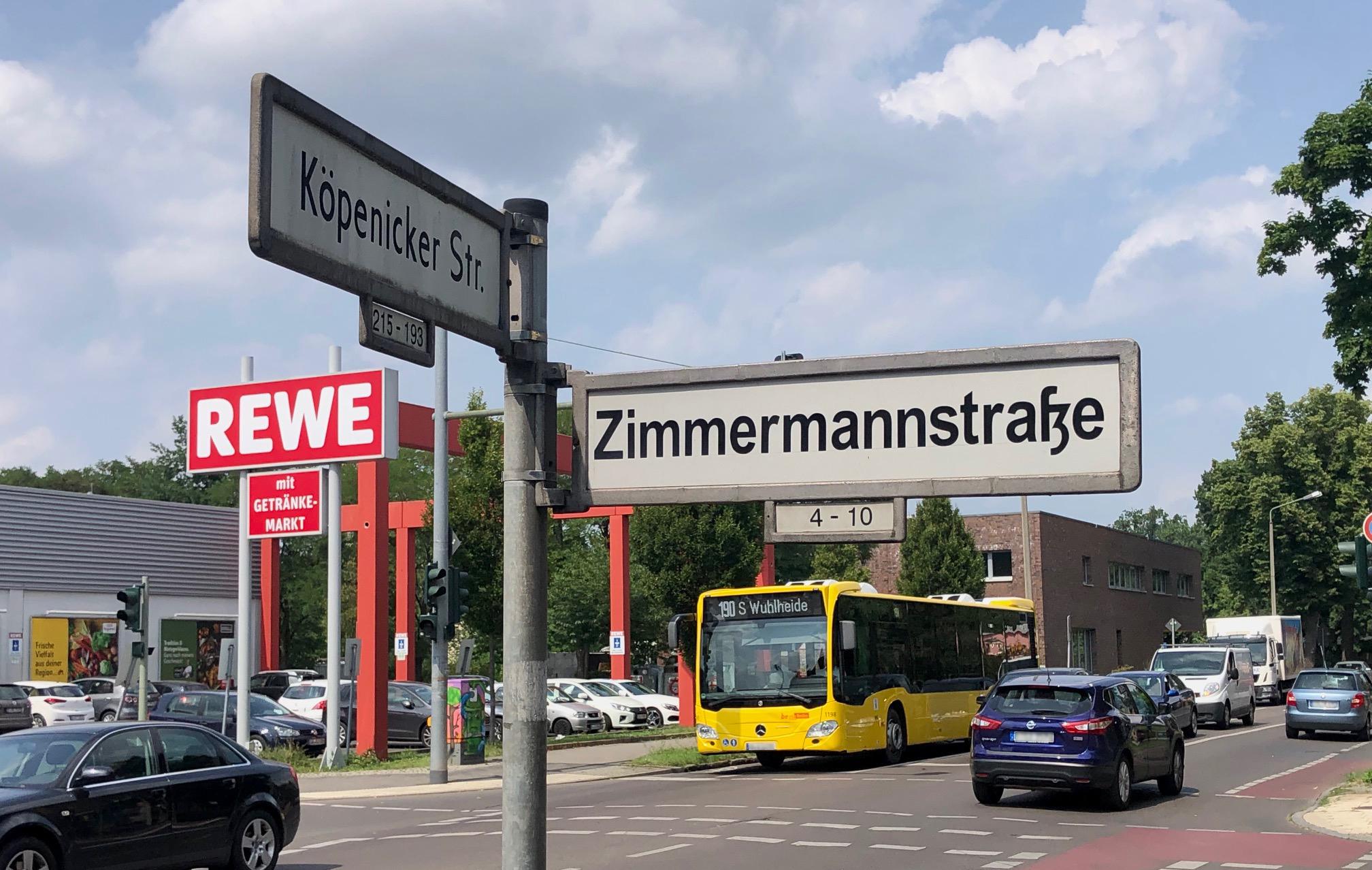 Betroffen ist der Abschnitt zwischen Zimmermannstraße und Bezirksgrenze. © pressefoto-uhlemann.de