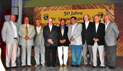 Gründungsmitglieder des SV-Liggeringen beim 50-jährigen Vereinsjubiläum