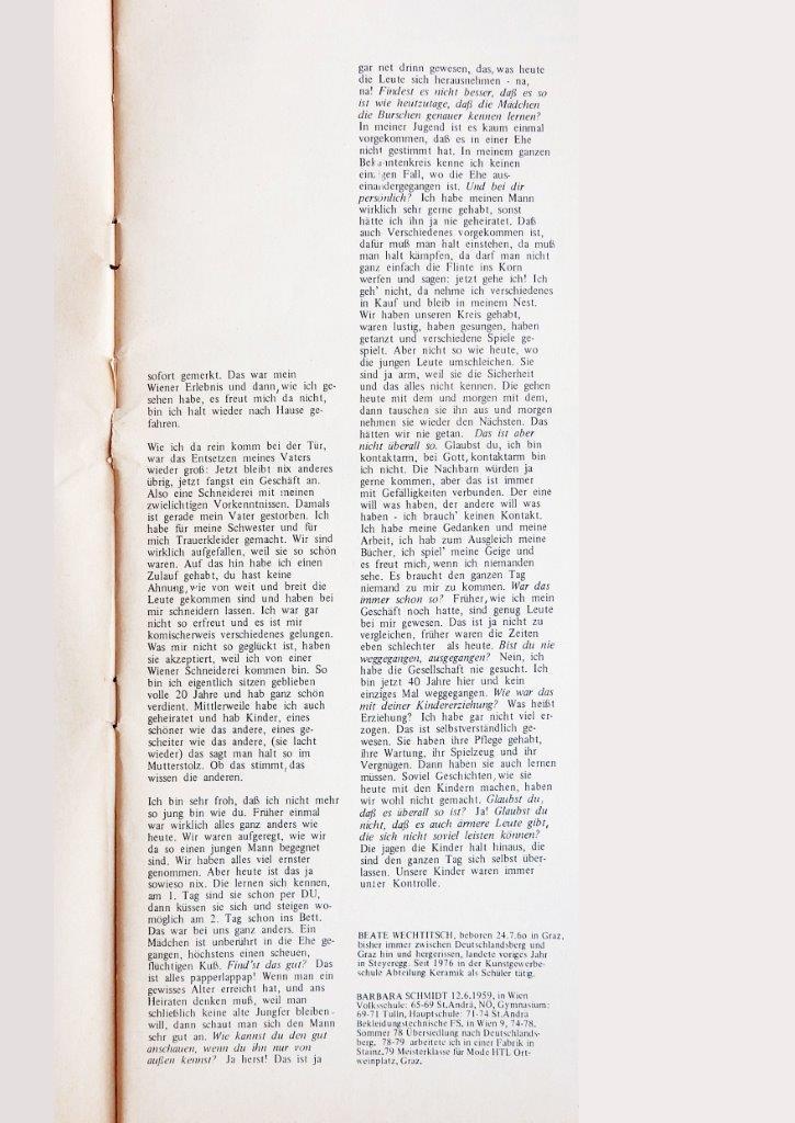 Beitrag: Interview gemeinsam mit Barbara Schmid