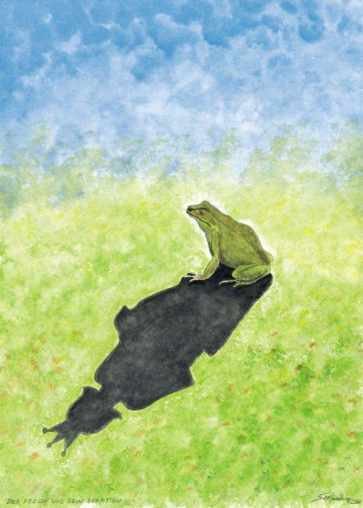 Der Frosch und sein Schatten / (c) Stefanie Grüssl