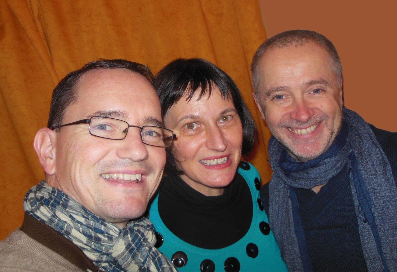 Michael, Stefanie und Klaus bei der Entstehung des Beitrags