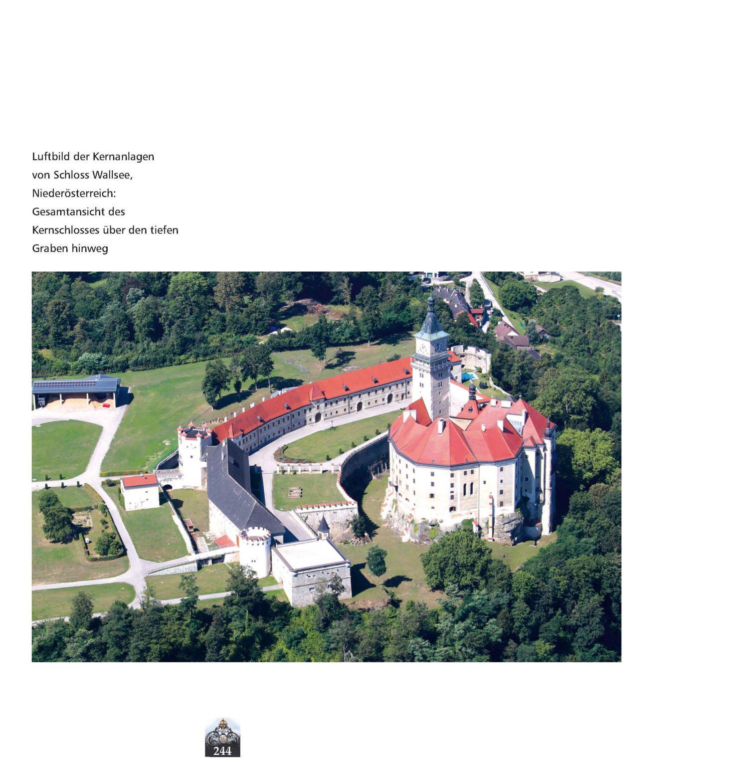 Schloss Wallsee, Luftbild © Stefanie Grüssl