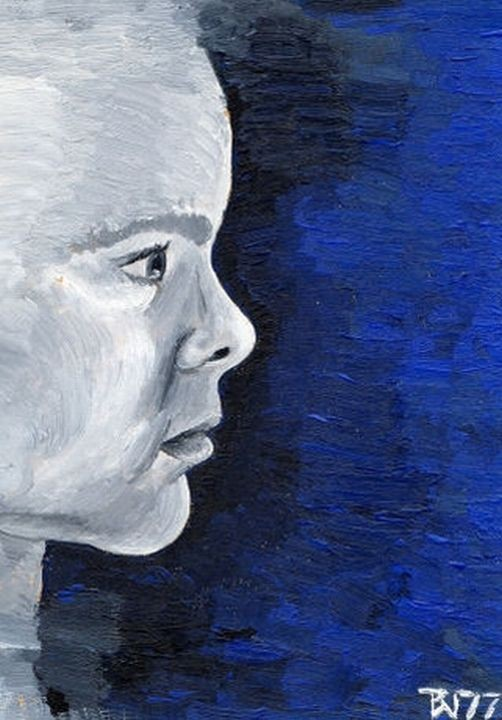 1977: Portrait Evelyn Arnfelser (Öl auf Karton)