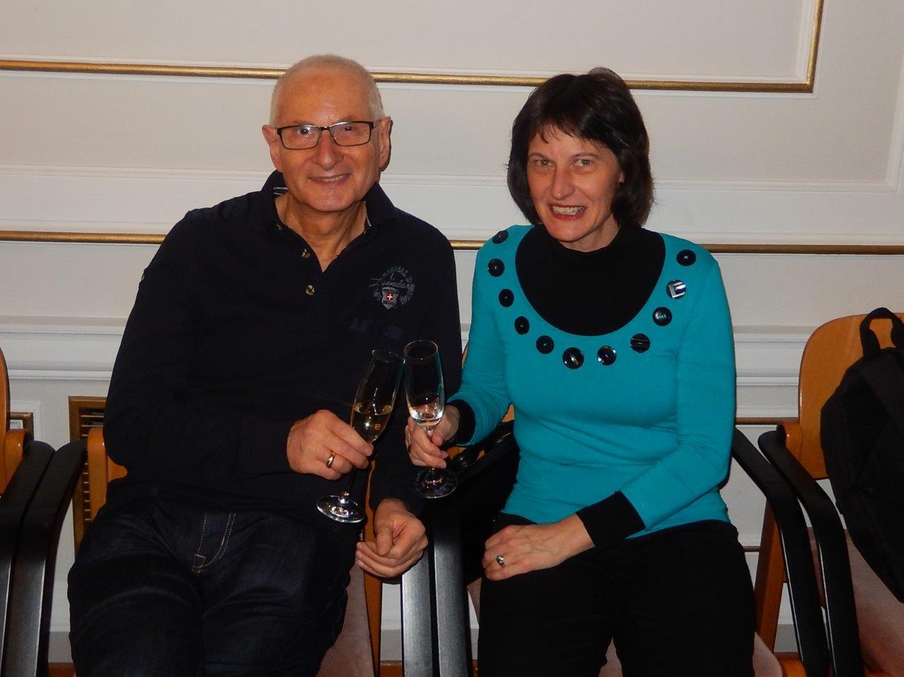 Gerald und Stefanie Grüssl bei der Präsentation des Buches