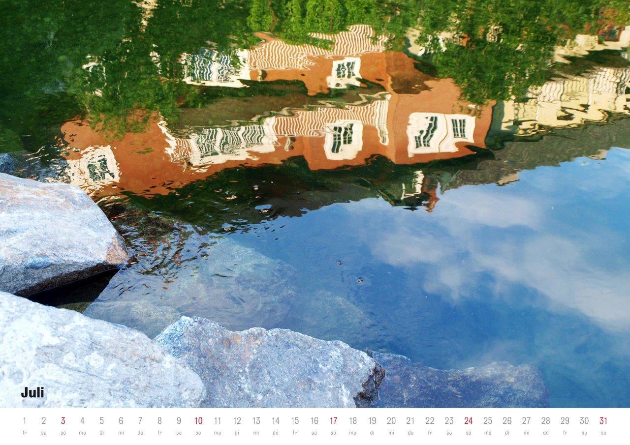 Rotes Haus in Wasser (Waidhofen / Ybbs) © Stefanie Grüssl