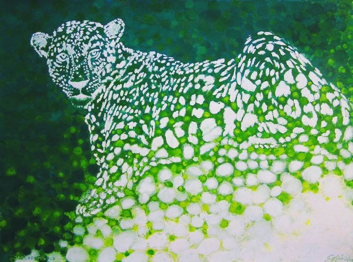 Jaguar im Wald / (c) Stefanie Grüssl