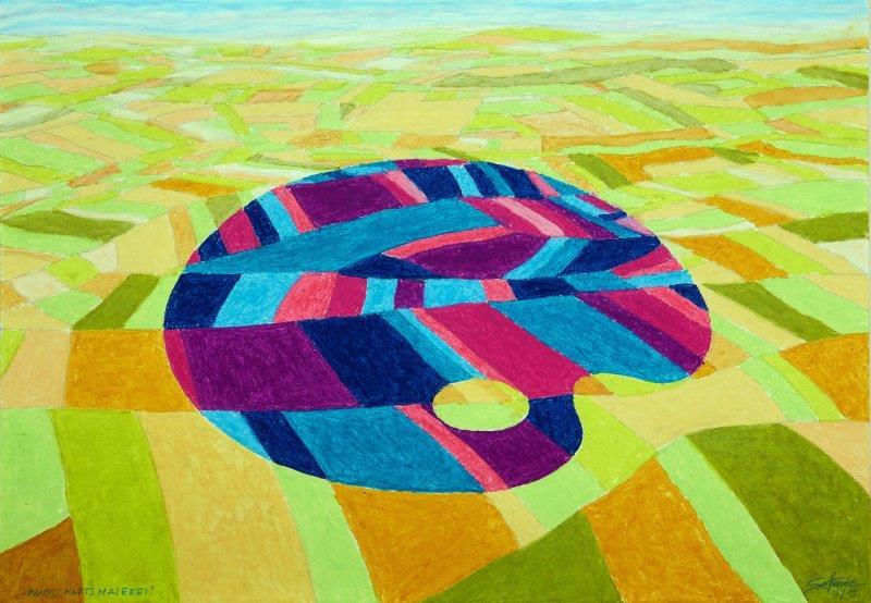 Landschaftsmalerei     (c) Stefanie Grüssl