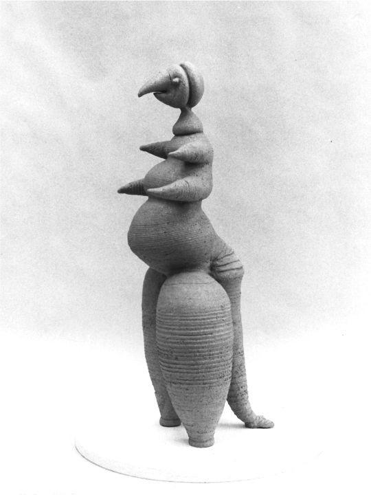 Fabelwesen, Töpferplastik aus Steinzeugton, 1982