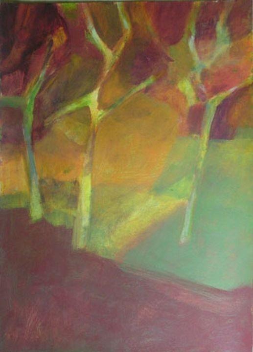 """Susanne Wechtitsch: """"Obstbäume"""", Acryl"""