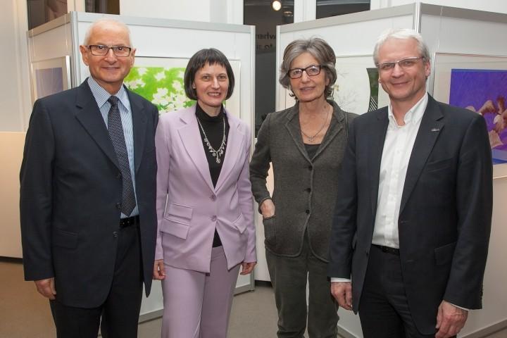 Gerald Grüssl, Stefanie Grüssl, Cecily Corti und Fritz Hrusa