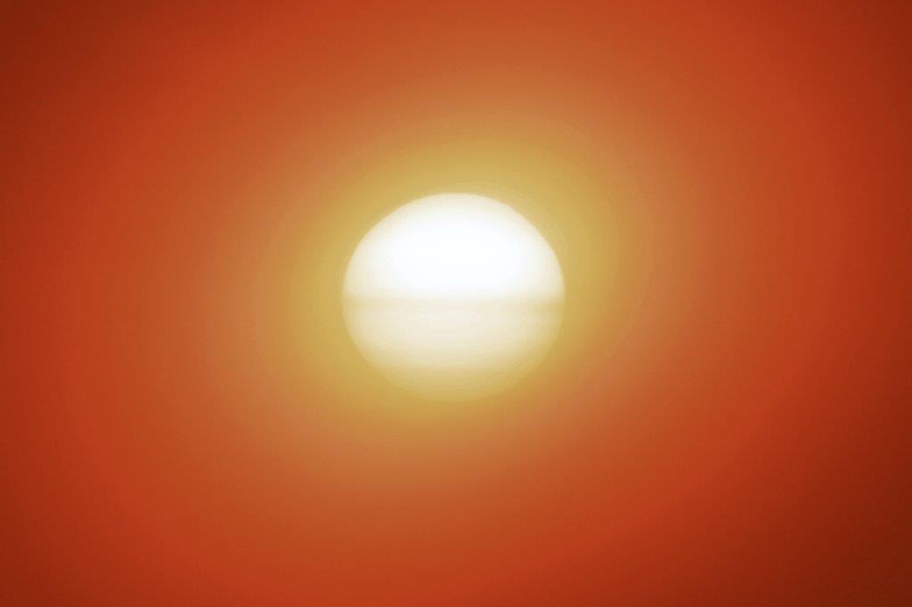 Sonnenuntergang mit Spezialfilter