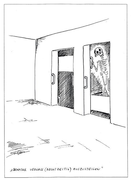 """""""Beamter vergaß rechtzeitig auszusteigen"""" © Stefanie Grüssl"""