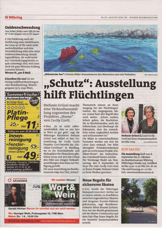 Bezirkszeitung 34-2016, Artikel