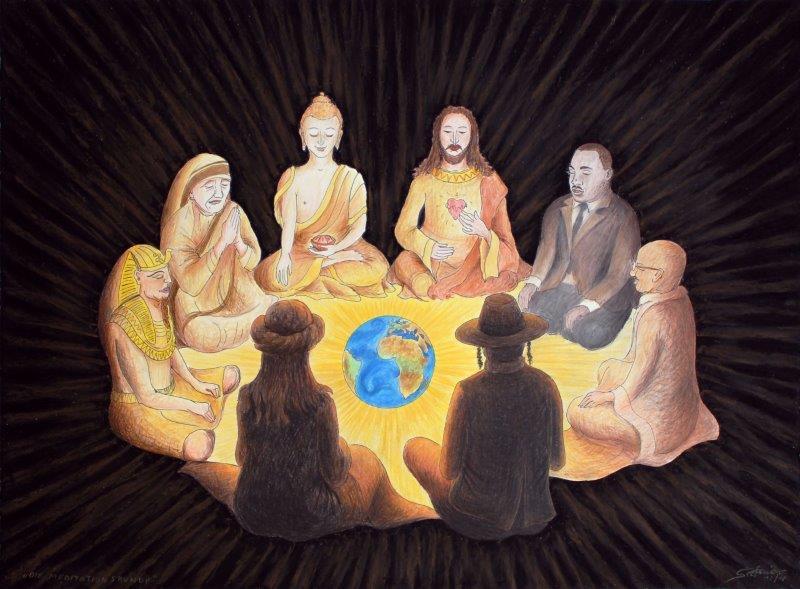 Die Meditationsrunde       (c) Stefanie Grüssl
