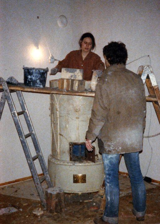 Neuaufsetzen eines historischen Ofens (Wildon / Graz), 1981 (mit Fa. Kohlroser)
