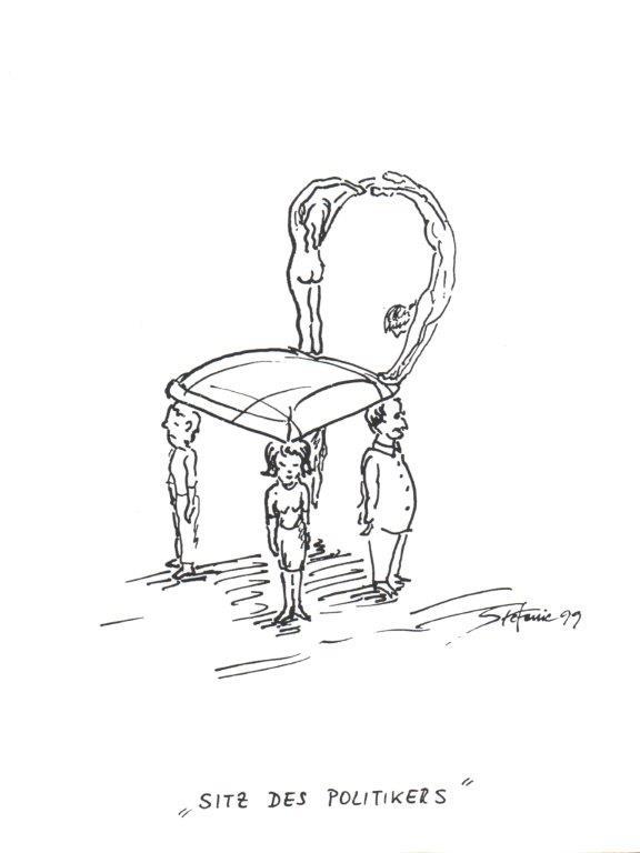 """""""Der Sitz des Politikers"""" © Stefanie Grüssl"""