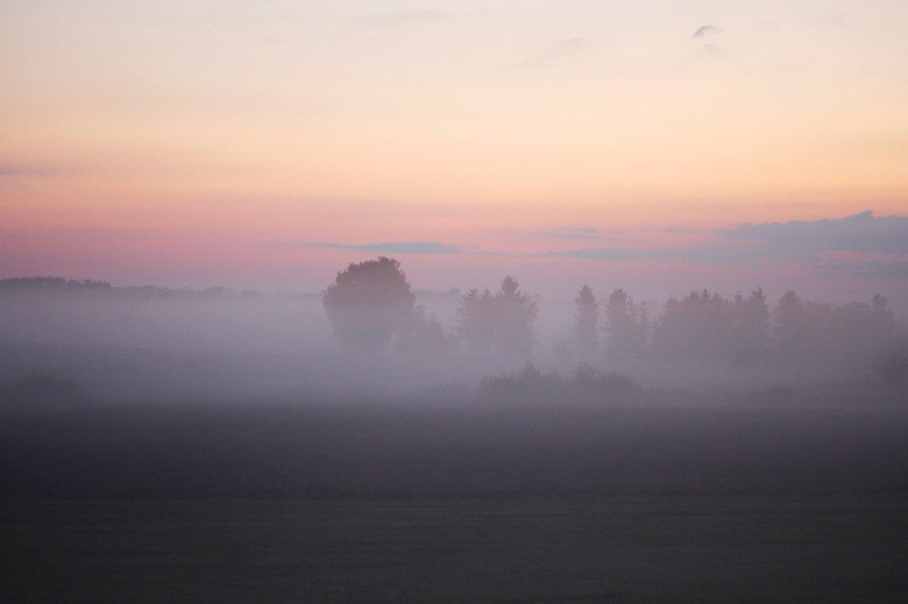 Nebelige Phase vor dem Sonnenaufgang