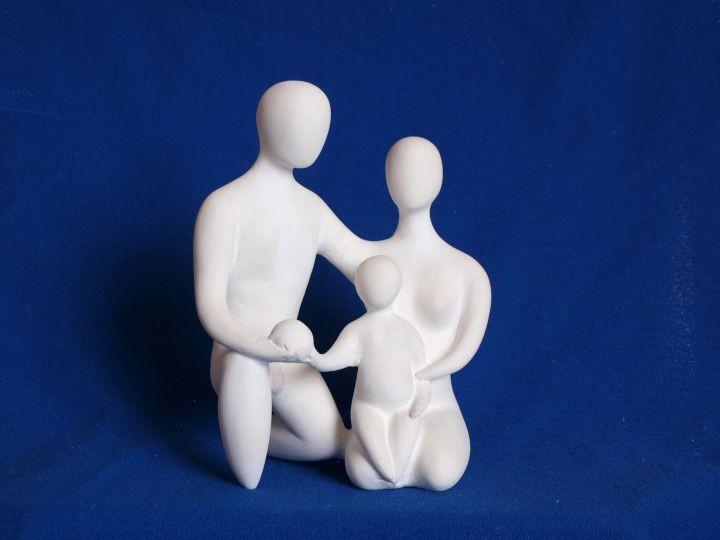 Hl. Familie (Entwurf / Gipsmodell für Wr. Augartenporzellan), 2000