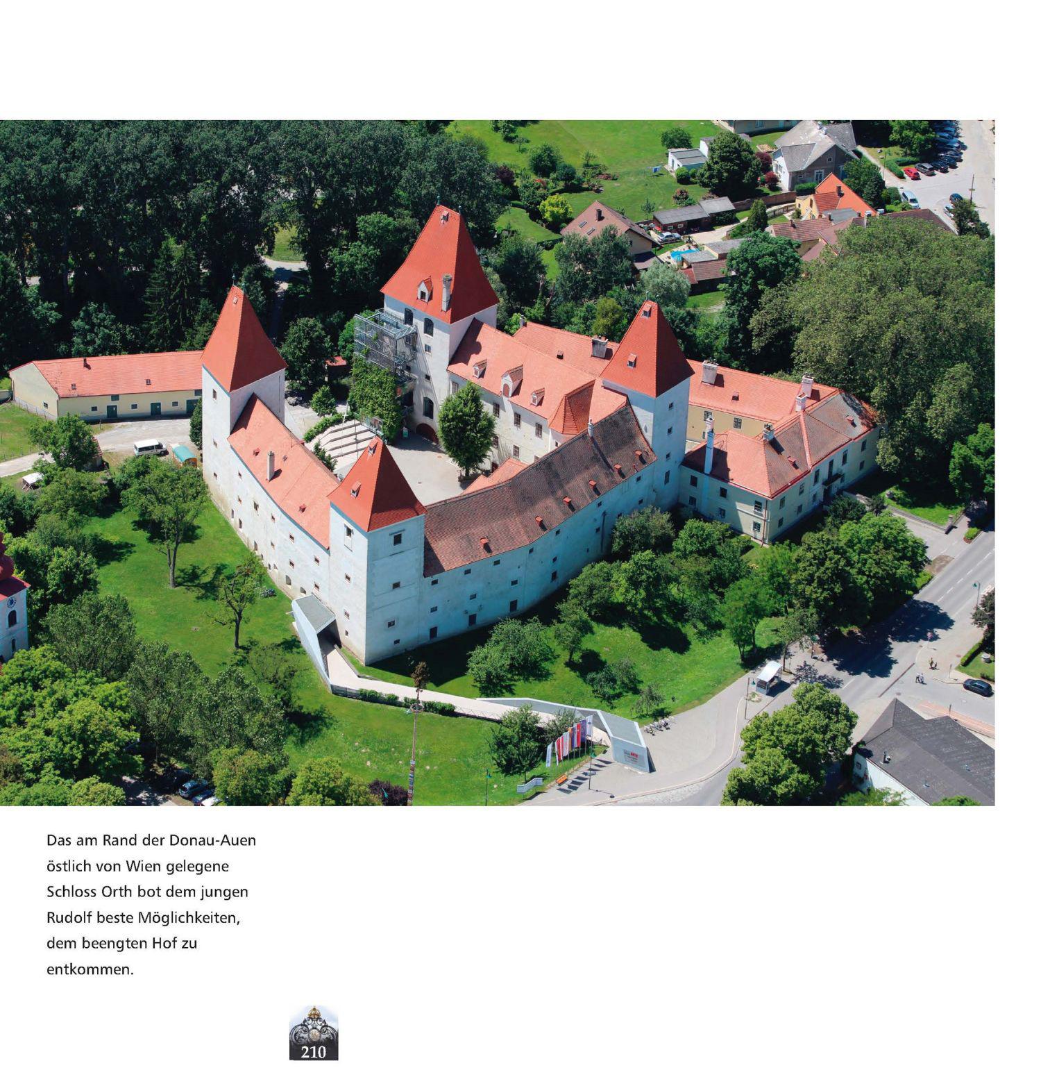 Schloss Ort an der Donau, Luftbild © Stefanie Grüssl
