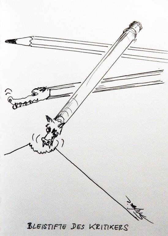 """""""Bleistift des Kritikers"""" © Stefanie Grüssl"""