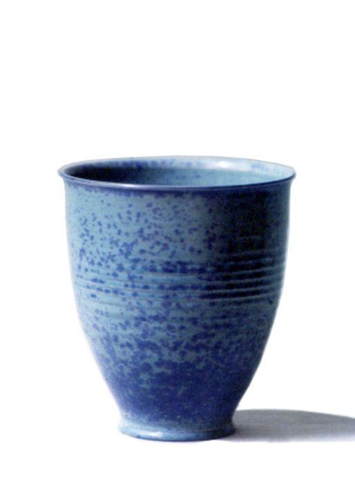 Vase mit Kristallglasur