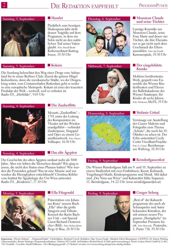 Wiener Zeitung Programmbeilage 0109-2016