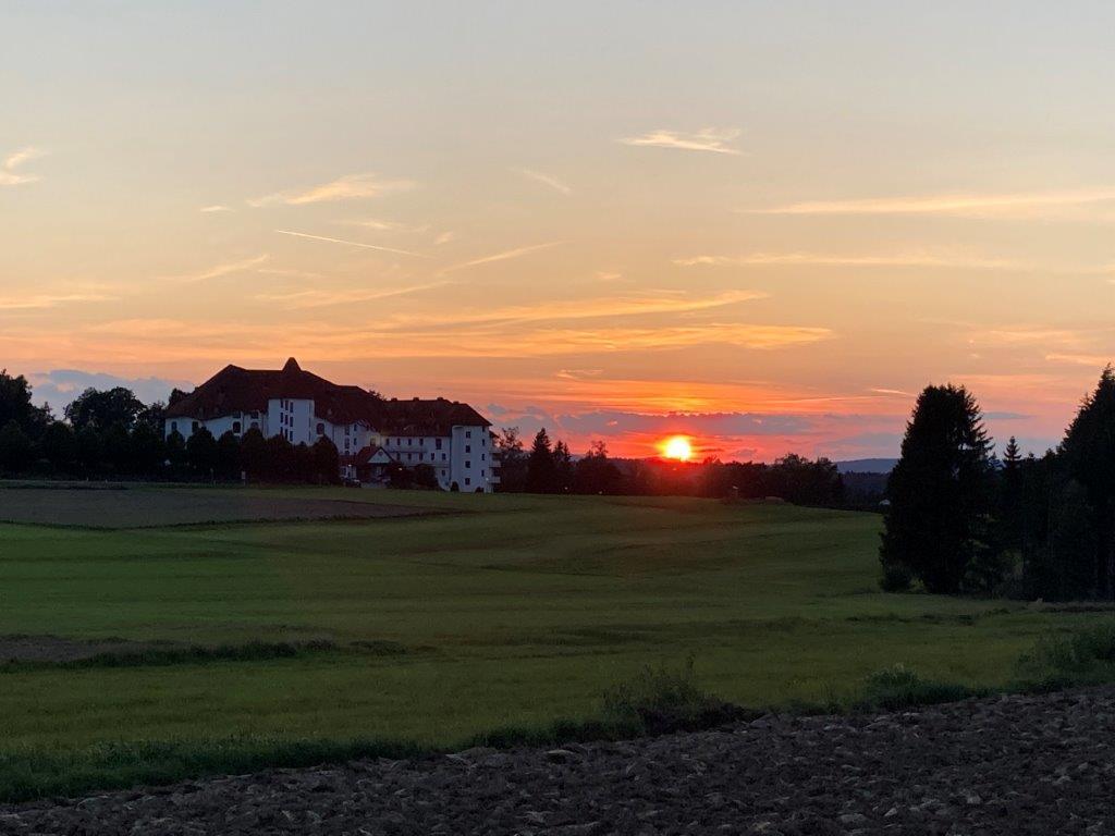 Sonnenuntergang vor der Heimreise