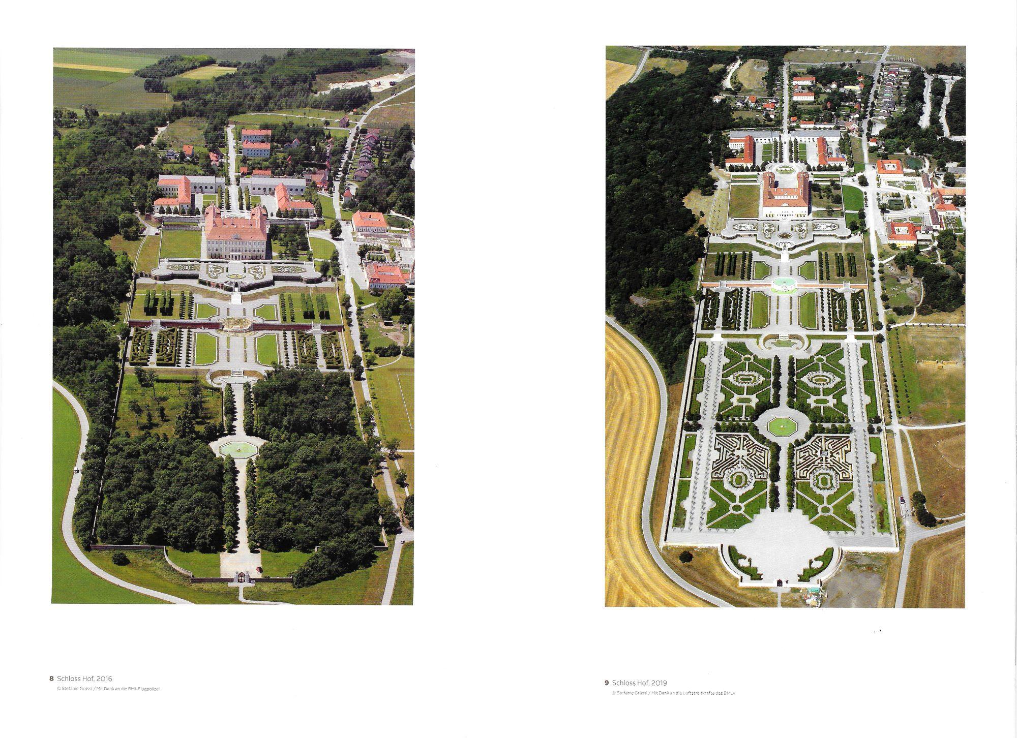 Schloss Hof Anlage 2016 und 2019, Fotos © Stefanie Grüssl