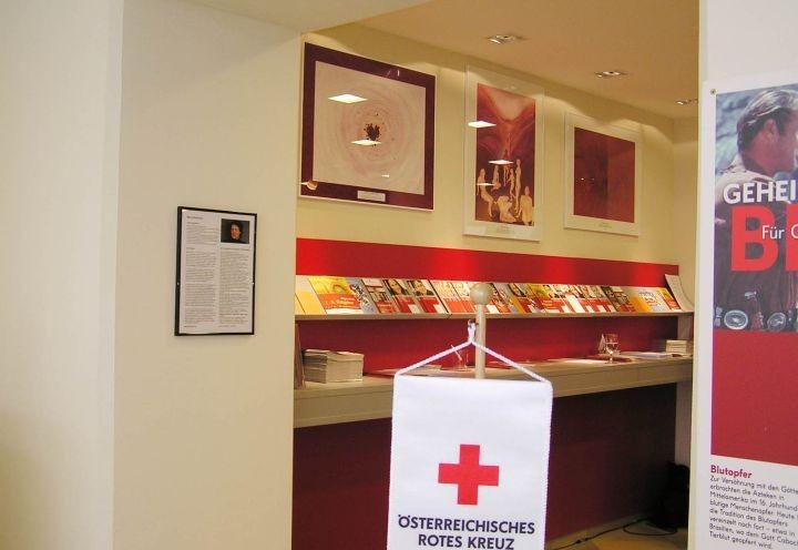 Die Bilder in der Blutspendezentrale der Öst. Roten Kreuzes, 1040 Wien