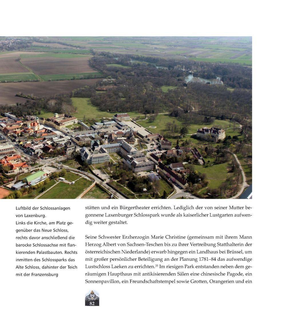 Schlossanlage Laxenburg, Luftbild © Stefanie Grüssl
