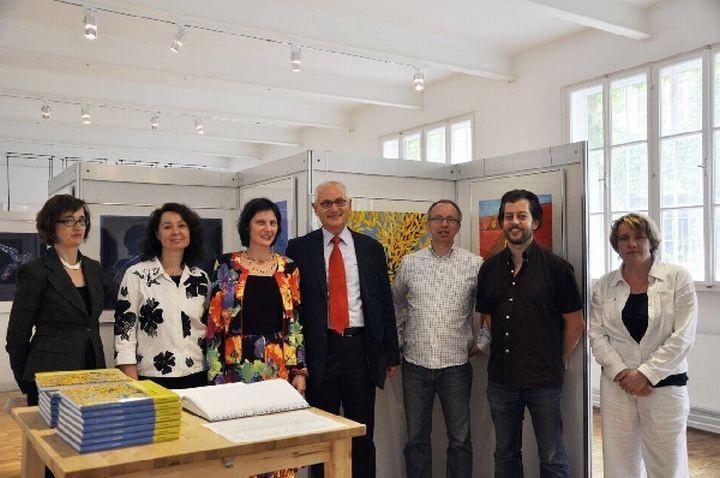 DDr. Irina Sibgatullina, Stefanie und Gerald Grüssl, Martin Fößleitner, Univ.-Ass. MMag.Stefan Hampl