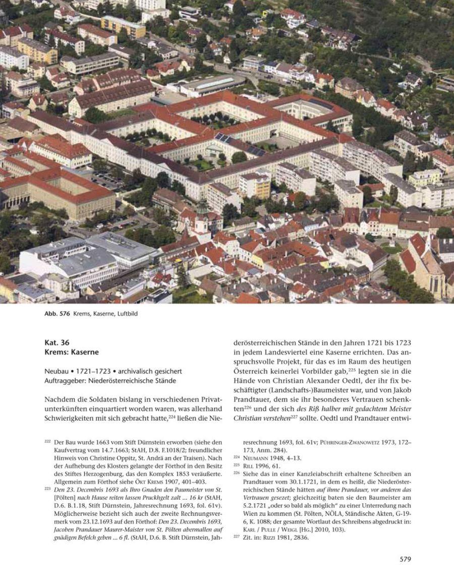Kaserne in Krems, Luftbild © Stefanie Grüssl