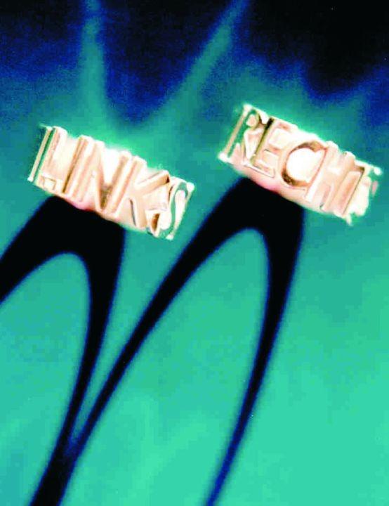 """Ringe """"RECHTS"""" und """"LINKS"""""""