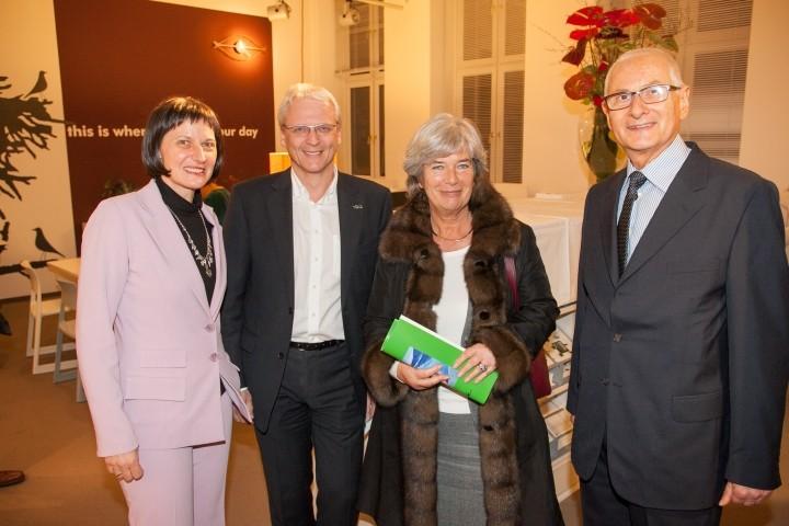 Stefanie Grüssl, Fritz Hrusa, Heide Schmidt, Gerald Grüssl