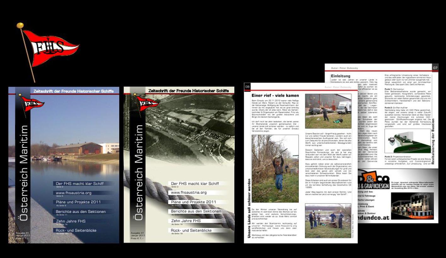 Fachzeitschrift, Layout Konzept mit fertigem Stand