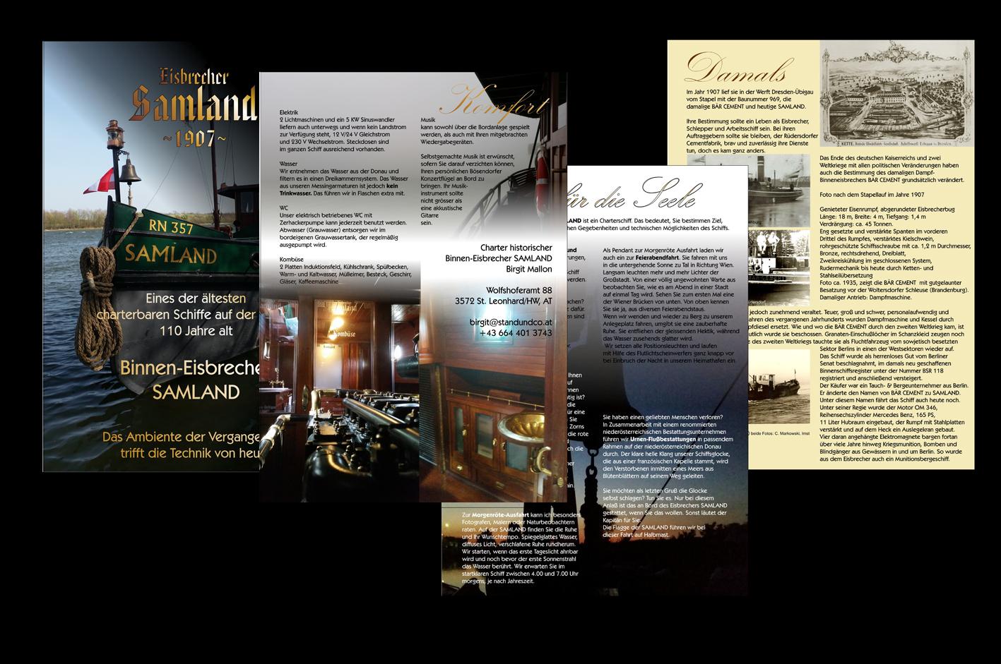 5.) Prospekte, gibts auch mit 8 und 12 Seiten, gebunden mit Goldschnur