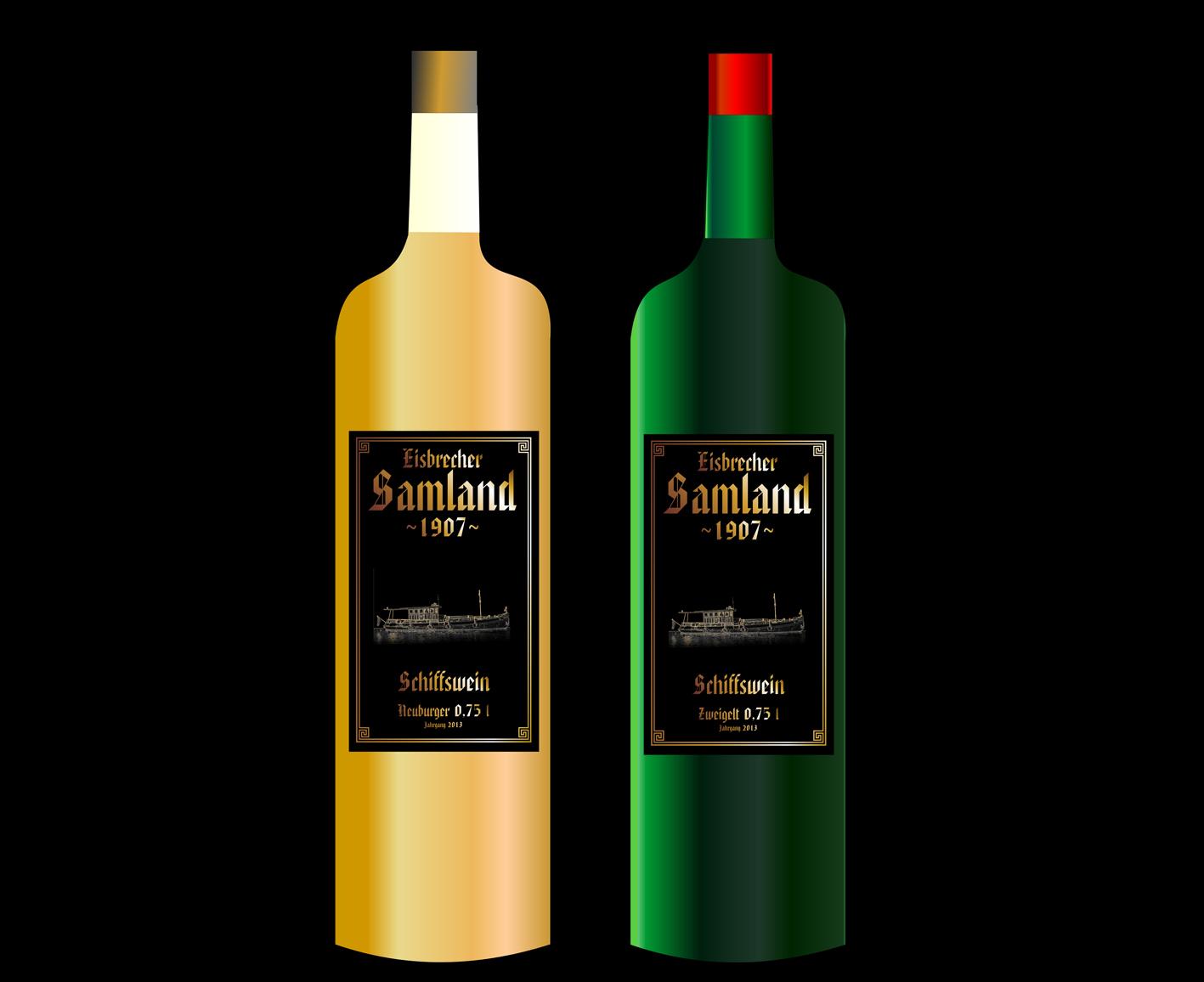 6.) Werbegeschenk Schiffswein, Zeichnung, wird derzeit vom Winzer befüllt.