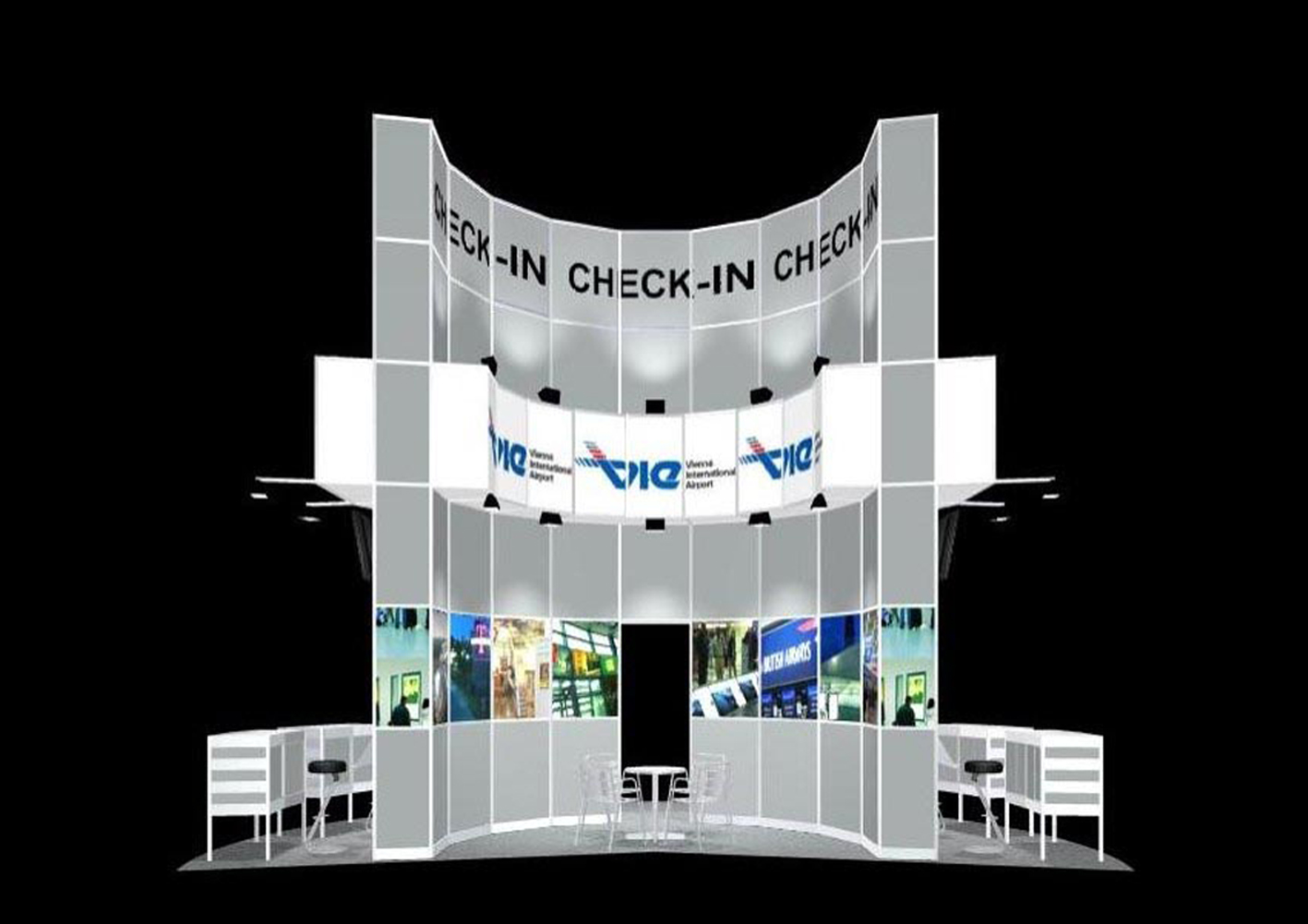 11 Flughafen Wien, aufstrebend, hoch, dem Design der Terminals Airport Schwechat nachempfunden