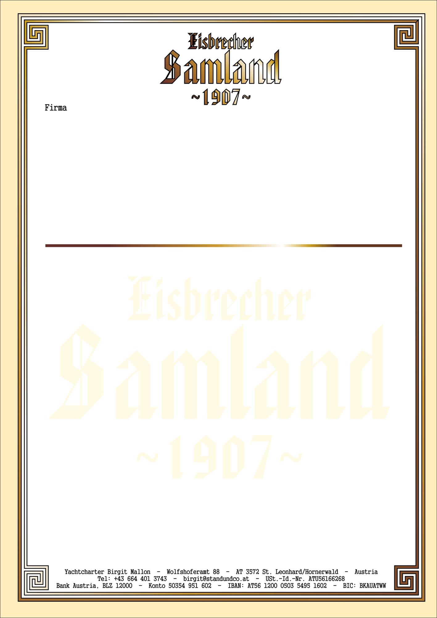 2.) Universal-Papier, dank Prägung / Wasserzeichen fälschungserschwert