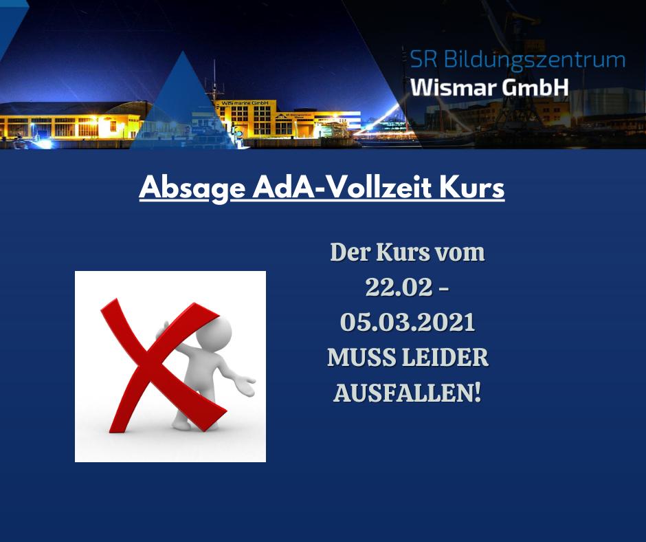 Absage AdA-Vollzeit Kurs