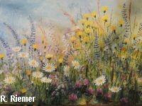 Gemälde einer Blumenwiese von Renate Riemer