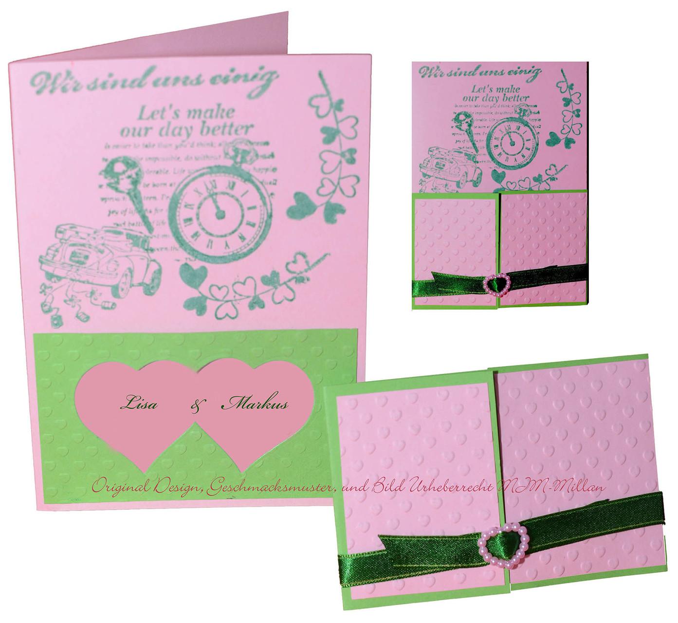 Einladungskarte Lilly