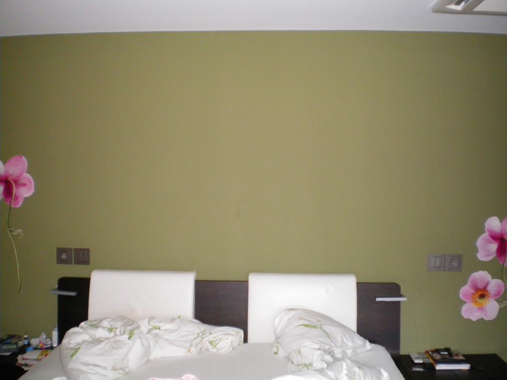 vorher - es fehlte dem Kopfende des Bettes an energetischem Halt