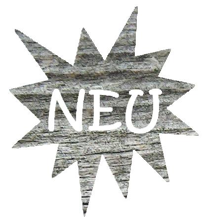 Neuheit Stern aus Holz der zur Neuheiten Seite verweist
