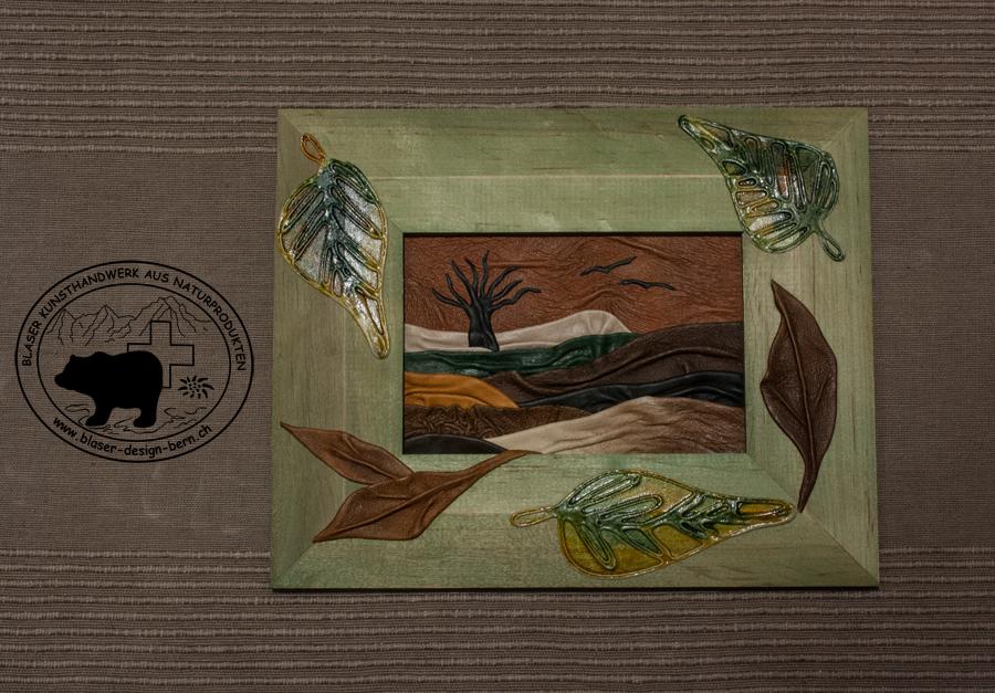 einzigartiges Lederbild - besondere Kunst aus Leder - Geschenkidee