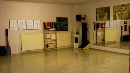 "2008 - der ""untere"" Raum, Trainingsfläche für Taekwon-Do, Tai-Chi, Aerobic etc."