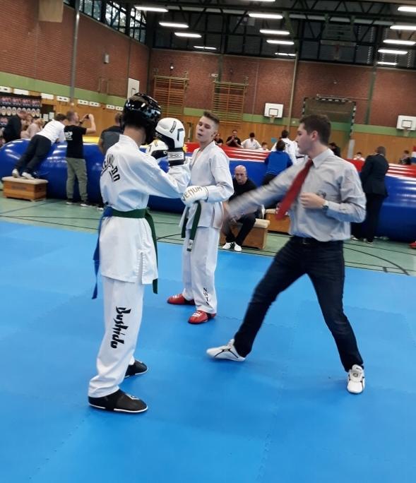Leonard Jelaca beim Kampf